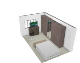 Cama Queen parede porta reversível