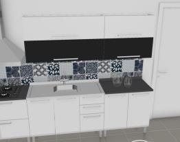 Cozinha Dandara Verde - Preta