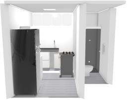cozinha e banheiro- apart