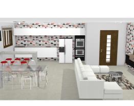 cozinha e sala de star