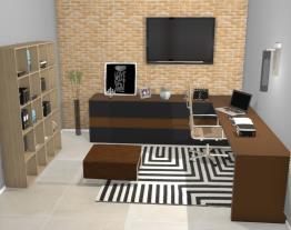 Projeto - Home Office em tons escuros