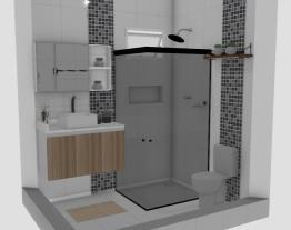 Banheiro Novo Rosa Suíte