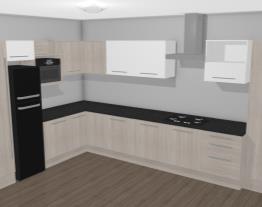 Cozinha Modulada Completa 12 Módulos Unique Carvalle/Branco - Kappesberg