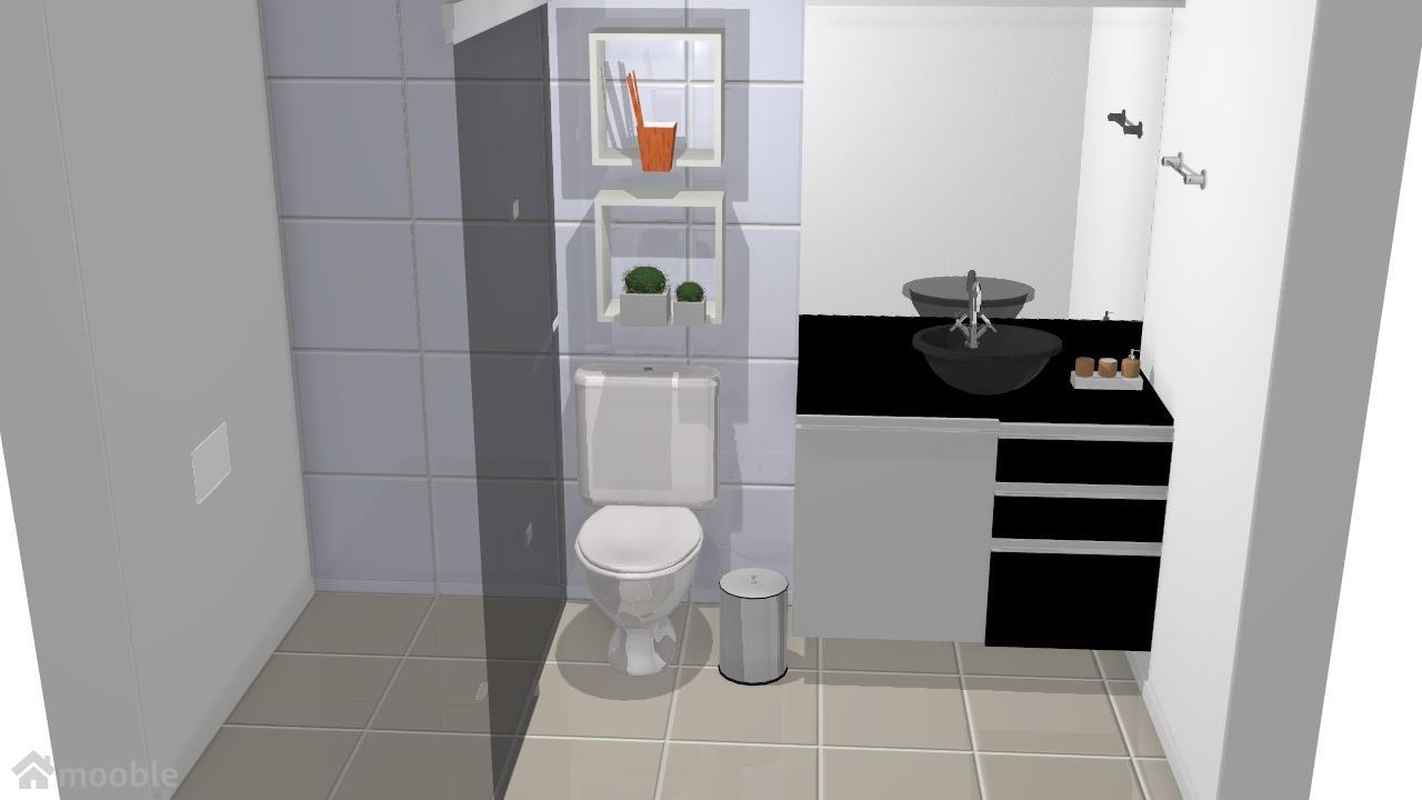 Meu projeto banheiro preto