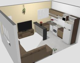 Meu projeto no Mooble - sala e cozinha