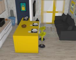 Apê 1Q, 1WC, cozinha e sala embutida