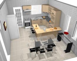 Cozinha Jazz do 2 plano