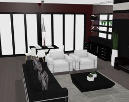 Projeto Sala/Cozinha Moderno