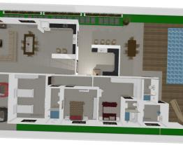 Casa 3/4 área gourmet e piscina