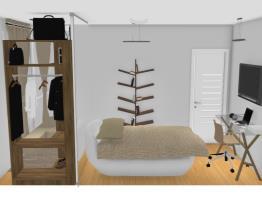 Dormitório masculino com closet