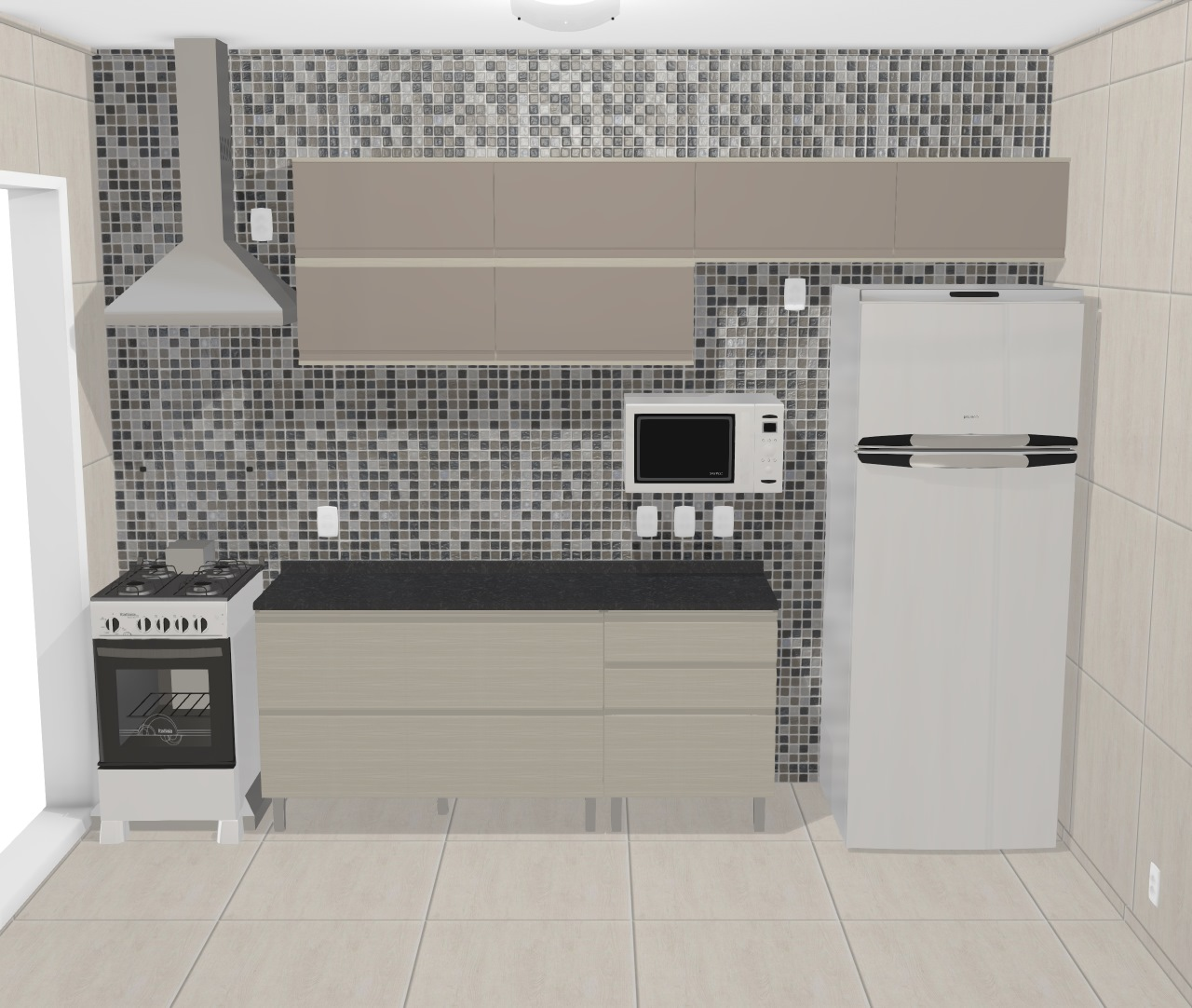Cozinha Belíssima - SEMI DUPLA coifa