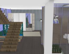 quarto azul moderno