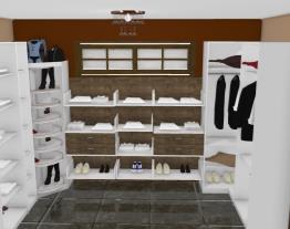 closet com sapateira giratória