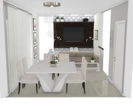 2 Salas integradas pequenas - Graziela Lara