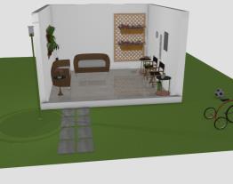 Jardim interno e externo