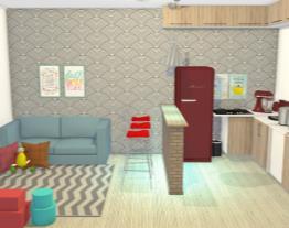 cozinha e sala ap