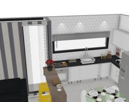 Sala e cozinha - Lu e Martini