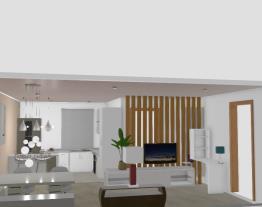 minha sala e cozinha integradas