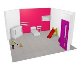 quarto menina simples
