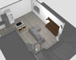 Casa sala e cozinha