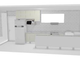 Cozinha com fogao Atlas corredor