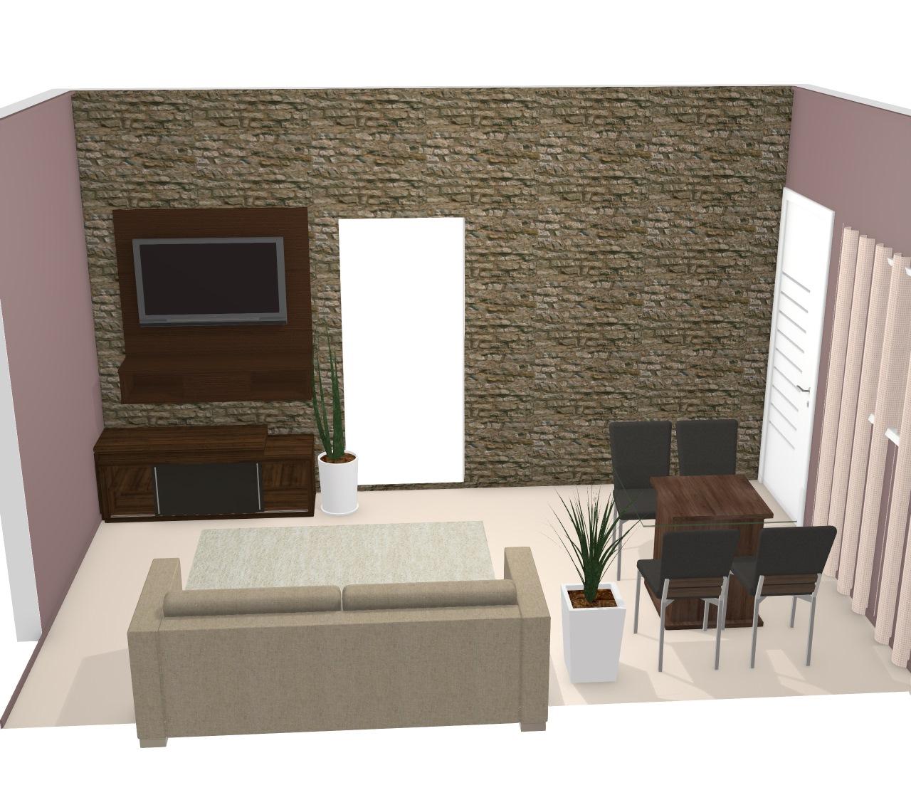 Sala de jantar integrada com sala de estar