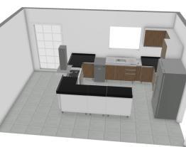 Meu projeto no Mooble com forno embutido e cooktop e bancada