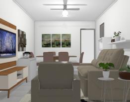 Casa 1 - Sala com dois ambientes