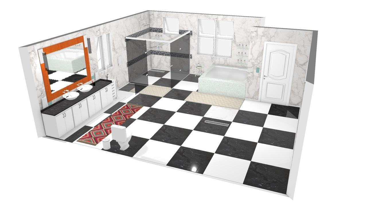 Banheiro Master De Henrique Planta 3d Mooble Politorno