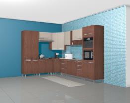 Cozinha Modulada Completa com 10 Módulos Smart Turin/Cristal - Henn